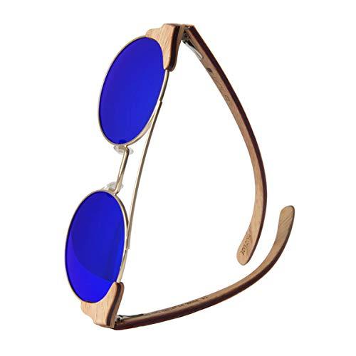 WOLA tondi occhiali da sole in legno FEU donna i uomo legno, style sunglasses eyewear UV400 - polarizzati acero