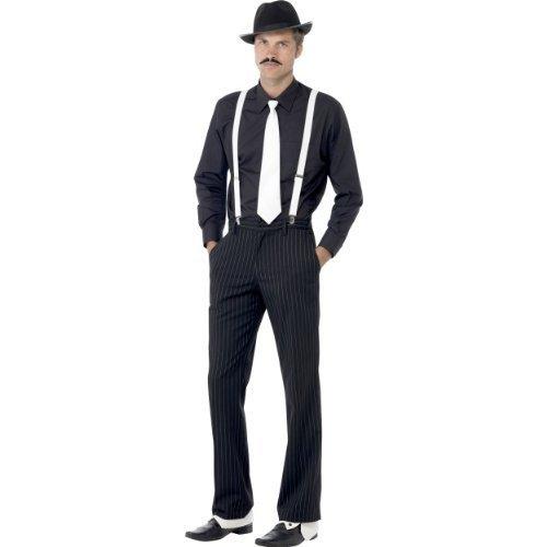Erwachsene Herren 1920er Jahre - Kostüm Herren Kleid Zubehör Gangster Instant Komplettsatz