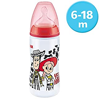 NUK Disney Pixar Toy Story First Choice+ Babyflasche, 6-18 Monate, 300 ml, Woody / Jessie