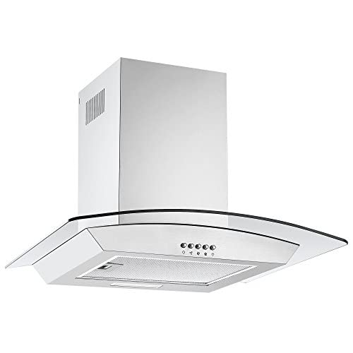 41GkAeSozgL. SS500  - Cookology CGL600SS Designer Extractor | 60cm Curved Glass Chimney Cooker Hood in Stainless Steel