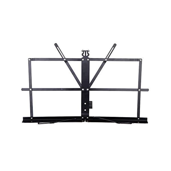 Andoer® Leggio da Tavolo in Metallo Spartiti Titolare Pieghevole con Sacca di Trasporto Impermeabile