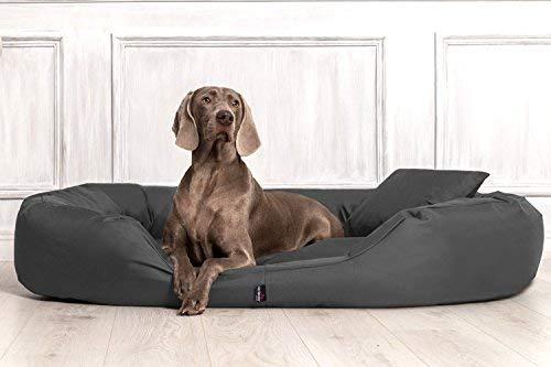 tierlando S5-02 SAMMY Extra ROBUST Hundesofa Hundebett Gr. XXL 140cm Graphit Anthrazit