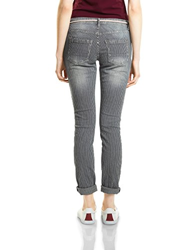 Street One, Jean Slim Femme Blau (Authentic Vintage Stripe Wash 11329)