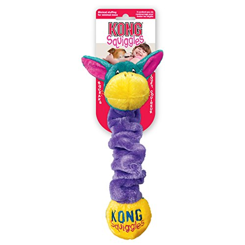 KONG Squiggles Dog Toy, Blue, Large
