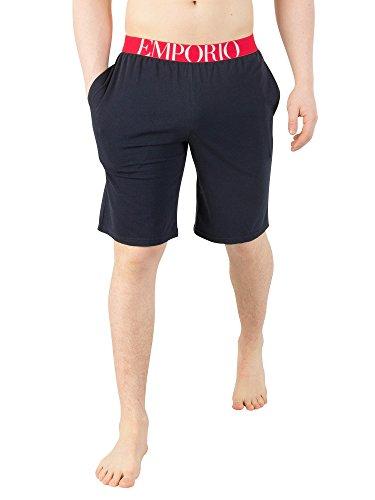 Emporio-Armani-Uomo-Pantaloncini-da-pigiama-con-logo-Blu