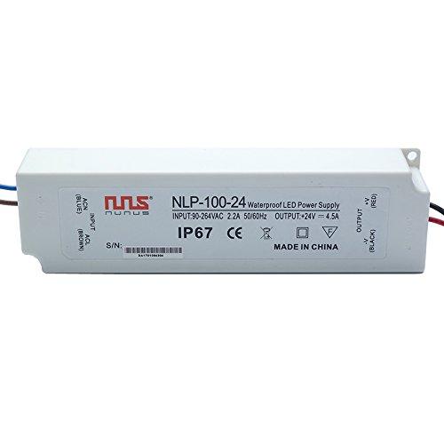 NuNus Netzteil LED Trafo 24V 100W IP67 Transformator Outdoor Wasserfest geeignet für LED Stripes, LED Beleuchtungen, LED Birnen uvm.