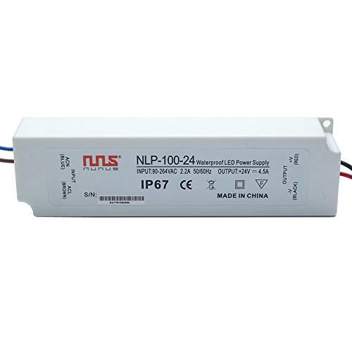 NuNus LED Transformateur Electronique 24V 100W IP67 LPV-100-24