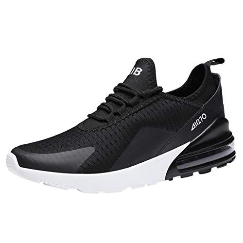 AIni Herren Schuhe 2019 Neuer Heißer Beiläufiges Mode Sale Ultraleichte Atmungsaktive Laufschuhe aus Mesh für Sportliche Aktivitäten Freizeitschuhe Partyschuhe (45,Schwarz)