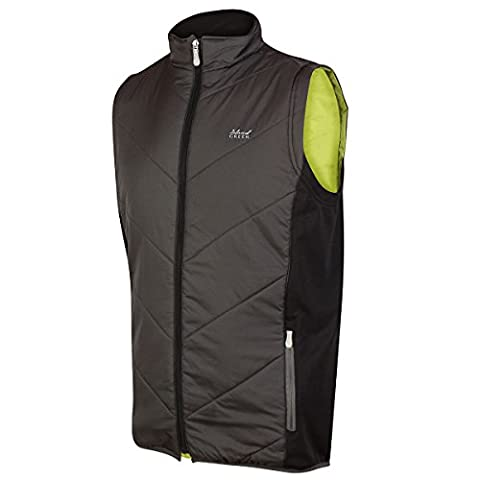 Island Green Men's Padded Gilet, Charcoal, Large