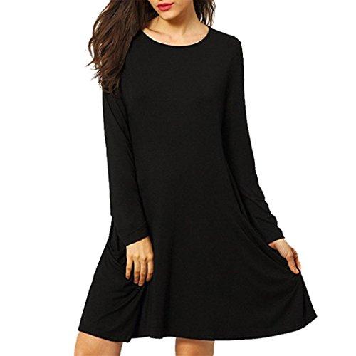 -femmes-mini-robe-ularmor-chemise-en-vrac-grosse-poche-decontractee-cou-manche-longue-ruffles-dress-
