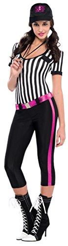 Damen Schiedsrichter Fancy Dress Kostüm - Schiedsrichter Kostüm Damen Gr.