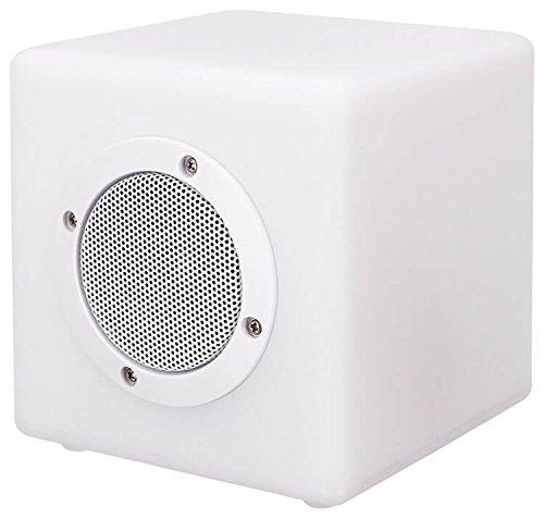 Bigben Interactive BTCBLIGHTXS Stereo Portable Speaker 10W Cubo Color Blanco Altavoz portátil...