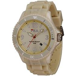 Fila fa-1023-38-Unisex Watch-Analogue Quartz-Beige Dial Beige Silicone Strap