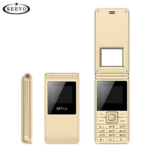 gaeruite SERVO 2017 Flip Phone 1.77 Pulgadas Spreadtrum6533 Doble Tarjeta SIM Celular, Vibración gsm Fuera de Radio FM Teclado Ruso, 1500 MAH Teléfono móvil
