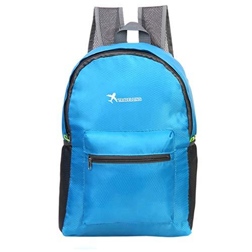 Jaysis Reisetasche Rucksack Outdoor Sport Reise Falttasche Schultertasche Diamond Rucksack (Blau) -