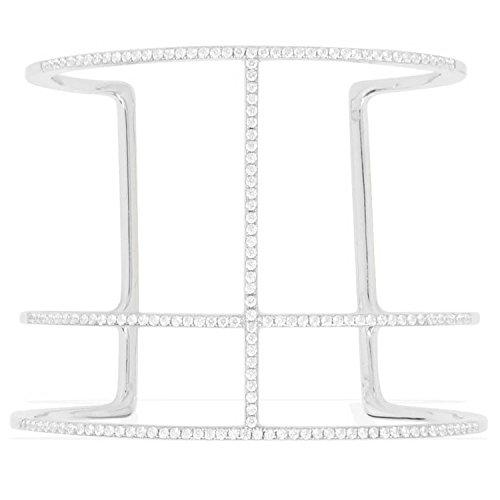 apm Monaco Damen-Armreif Sterling Silber Zirkonias 6,4 cm Durchmesser AB2161OX-M