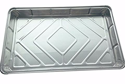 10 Large Foil tray bake containers aluminium recyclable 12 x 8