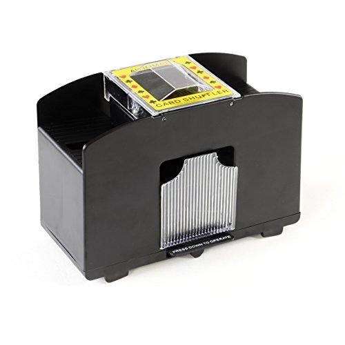 Nipach GmbH Kartenmischmaschine Elektrischer Kartenmischer für 4 Decks Karten Mischer Poker Skat Rommé elektronisch Card Shuffler batteriebetrieben