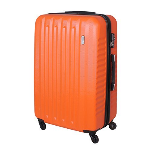 XXL Karry Hartschalen Koffer Reisekoffer Trolley TSA Zahlenschloss Reise 100 Liter Orange 811 B