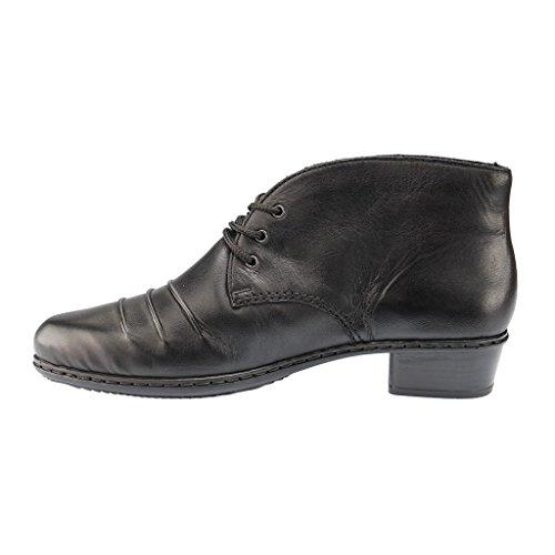 RIEKER Damen Stiefel, Winterstiefel, schwarz, 961438-1 schwarz