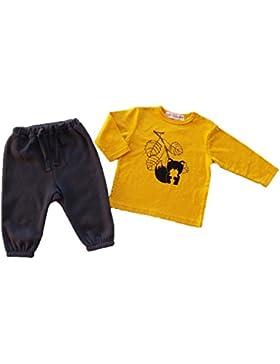 baby bekleidung set - Ocker & Navy - 3/24 monate