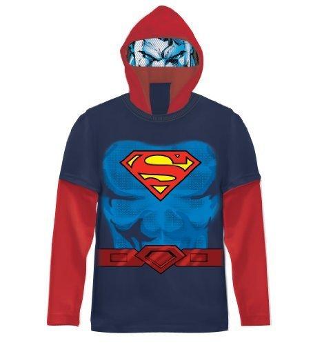 ungen marineblau Kostüm T-Shirt With Hood (Kleinkind 3T) (Kleinkind Superman Kostüm)