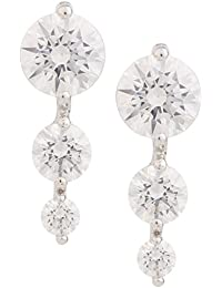 [Sponsored]Somma 925 BIS HALLMARKED Silver Rhodium Plated Made With Swarovski Zirconia Earrings For Women
