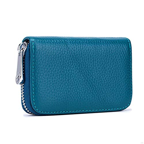 cca8780c62 Womens Credit Card Holder Wallet Zip Leather Card Case RFID Blocking Ladies  Small Blocked Accordion Wallets