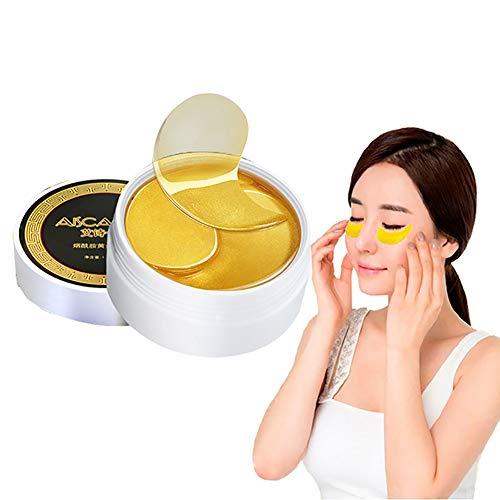 Xiton 60 BläTter Kristall Gold Collagen Eye Mask Gel Augenmaske Antialterung Anti-Falten Unter Augenklappen Tiefe FlüSsigkeitszufuhr Augenringe Behandlung FüR Frauen Und MäNner - Augen-gel-essenz