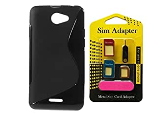 Wellmart Grip Back Cover For HTC Desire 516 Combo Offer Free 5 In 1 Metal Sim Card Adapter