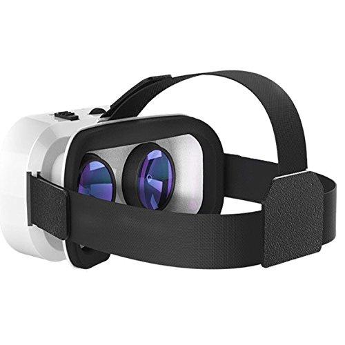 3D Virtual Reality Headset von Hotweild, 3D Virtual Reality Handy (11,9 - 15,2 cm) Headset, für Google Pappbrillen-VR mit verstellbarer großer Linse, elastischer Headset-Gurt für Spiel- und Filmgenuss (kompatibel mit iOS-, Android- und Microsoft-Systemen)