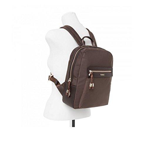Imagen de tous brunock chain de lona, bolso  para mujer, marrón brown , 9x30x25 cm w x h x l  alternativa