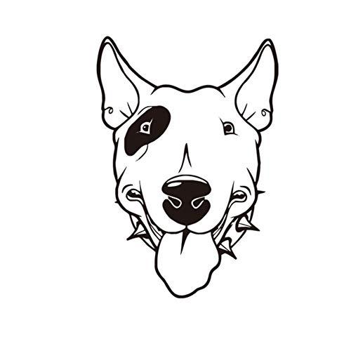 Whwd 42X60 Cm Pitbull Hund Vinyl Wandtattoos Niedlichen Hundekopf Tapeten Abnehmbarer Kleber Kinderzimmer Aufkleber Wohnzimmer Wandhauptdekor