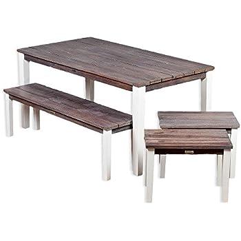 Amazon.de: Funktions Gartengarnitur HAWAII, 2x Tisch und 4x Bank mit ...