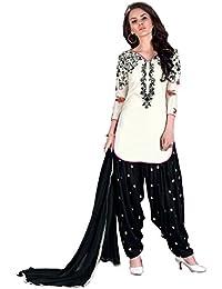 Special Mega Sale Festival Offer C&H Off-White Cotton Embroidery Patiyala Designer Suits