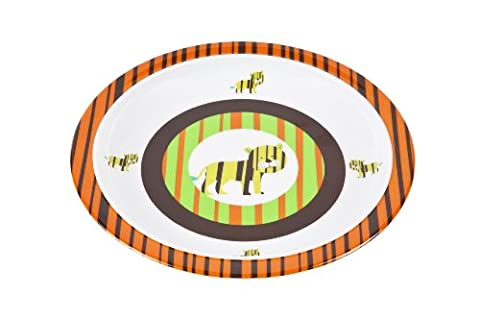 Lässig Dish Plate Melamin Teller aus 100% Melamin BPA-frei, Wildlife - Tiger (Französisch Dish)