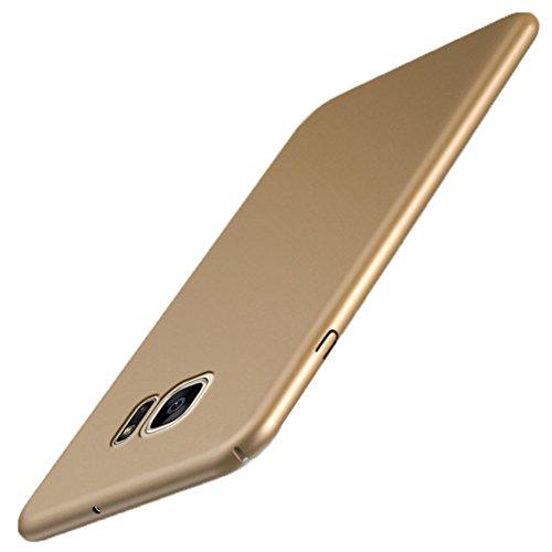 Coque Samsung Galaxy S7 Ultra Slim Légère Case Adamark Anti-Scratch Thin Protection Housse Bumper Récurer PC Rigide Étui Back Shell Pour Samsung Galaxy S7 (gold)