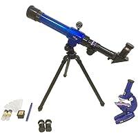 Blesiya C2110 Telescopio Astronómico y Microscopio Juguete Educativo para Niños