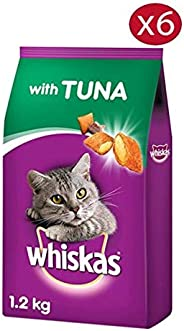 Whiskas Tuna Dry Cat Food 1.2 kg - Pack of 6