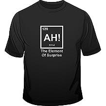 Ah! De la película El elemento sorpresa para hombre T-shirt con la tabla periódica