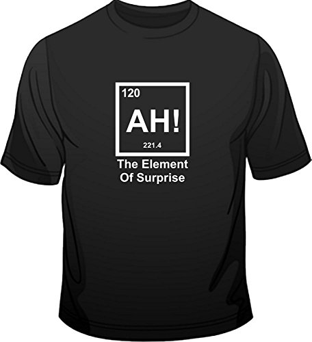 AH! The element of Surprise Periodic Table Herren T-Shirt Rot - Rot