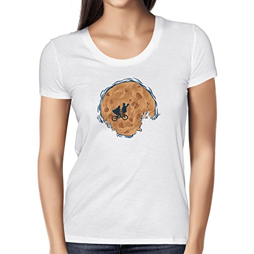 (Texlab Cookie E.T. - Damen T-Shirt, Größe M, Weiß)