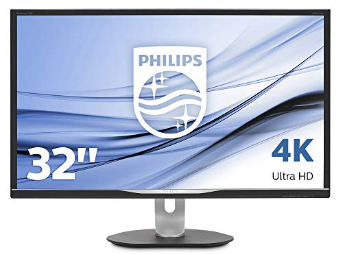 Philips 328P6VUBREB/00 80 cm (31,5 Zoll) Monitor (Displayport, HDMI, VA Panel, USB-C, USB Docking Monitor, 4 ms Reaktionszeit, 3840 x 2160, 60 Hz,  Pivot) schwarz Digital Docking Speaker System