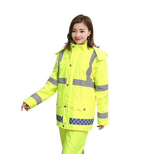 RBH Regenmantel, Damenmode Anzug, reflektierende Streifen Design, hohe qualität wasserdicht pu langlebig PVC Poncho - geeignet für Outdoor-Reisen, Klettern Camping - Waschbar Anzug Jacke