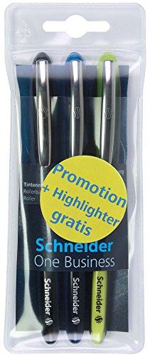 Schneider Schreibgeräte Schreibgeräteset One, Etui Tintenroller One Business, Textmarker One...