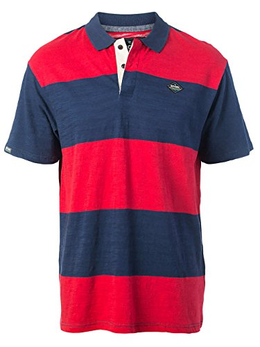 Herren T-Shirt Rip Curl Relaxed Polo Ribbon Red