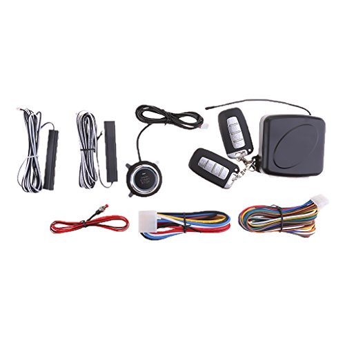 H HILABEE Alarmanlage Keyless Entry Motorstart Push Button Remote Starter Für Das Auto