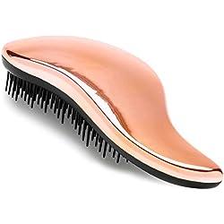 Lily England Brosse à Cheveux Démêlante - Qualité Salon Professionnel, La Meilleure Brosse pour les Cheveux Fins, Épais, Bouclés, Mouillés et Enfants (Or Rose)