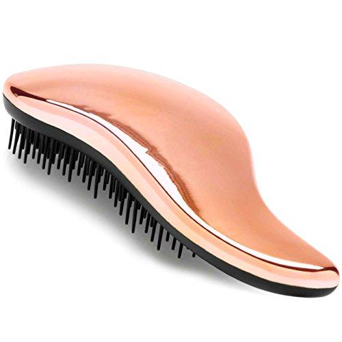 Lily England Detangler Bürste & Entwirr Haarbürste ohne Ziepen in Roségold - ideale Anti-Ziep Bürste & Entwirrbürste für lange Haare - für dünnes & dickes Haar