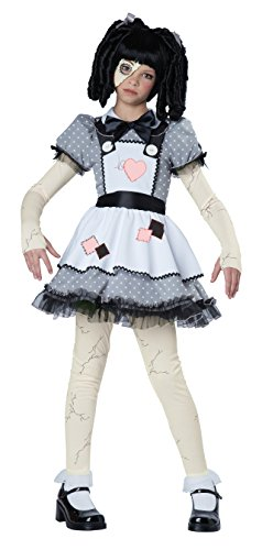Kostüm Doll Rag Kids - California Costumes Dark Haunted Rag Doll Costume Girls S